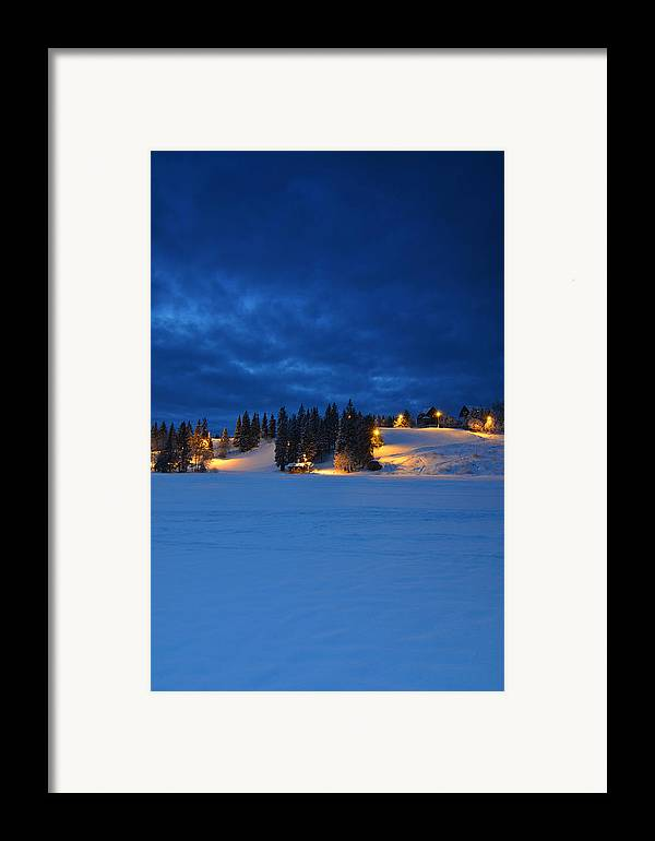 Norway Framed Print featuring the photograph Holmenkollen Blue by Aaron Bedell