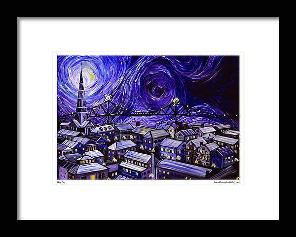 Nature Framed Print featuring the painting Holy City by James Christopher Hill