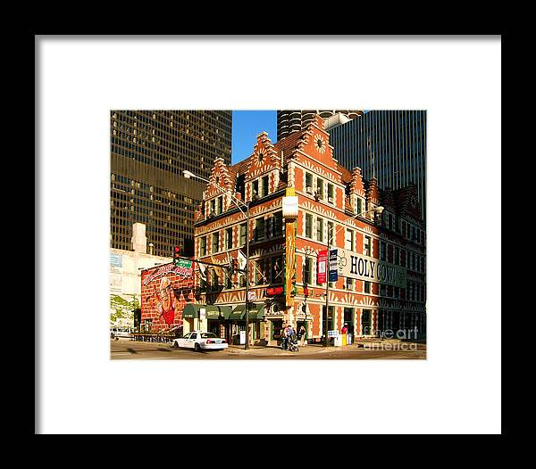 Holy Cow Framed Print featuring the photograph Holy Cow Harry Caray Building by Wernher Krutein