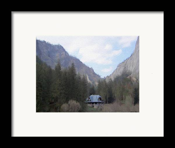 Alone Framed Print featuring the painting Home In The Mountains by Jeff Kolker
