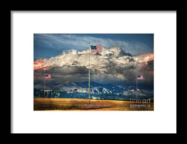 Flag Framed Print featuring the photograph Home On The Range by The Stone Age
