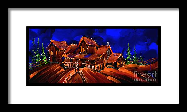 Home Framed Print featuring the painting Home by Steven Lebron Langston