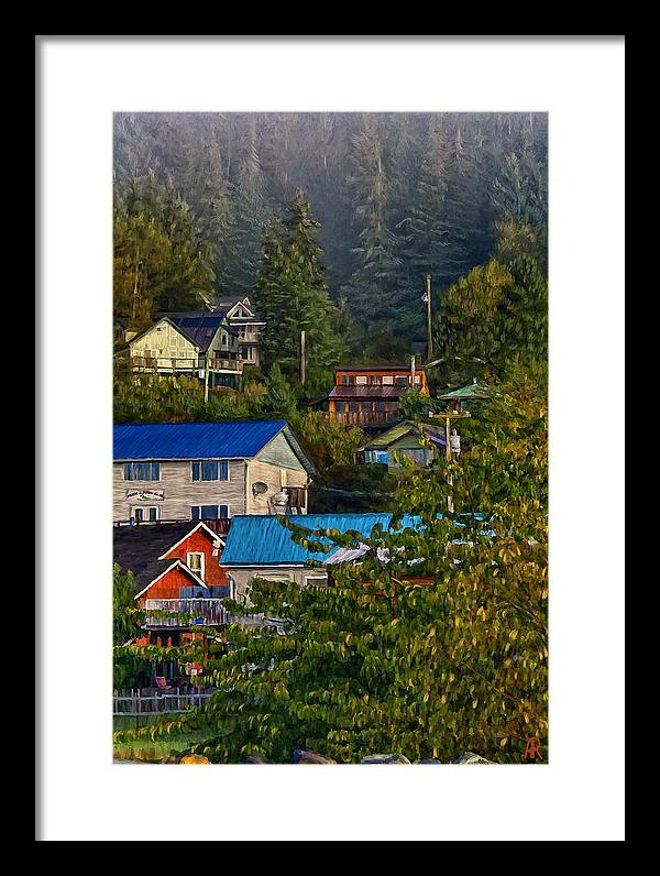 Queen Charlotte City Framed Print featuring the painting Home Sweet Home by Alice Langlois