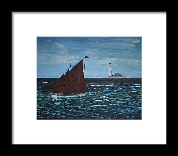 Boat Framed Print featuring the painting Homeward Bound by Edward Walsh