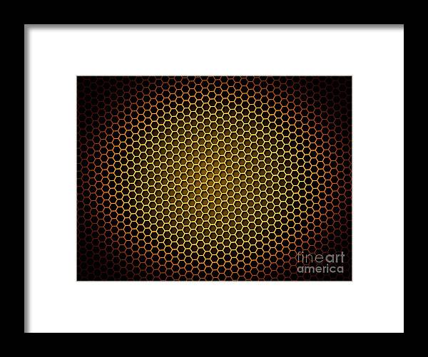 Abstract Framed Print featuring the digital art Honeycomb Background by Henrik Lehnerer