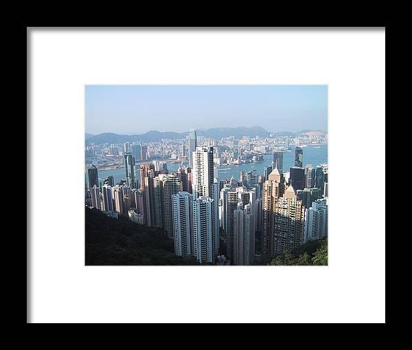 Hong Kong Framed Print featuring the photograph Hong Kong by John Hines