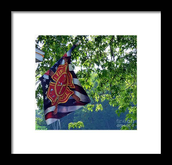 Trees Framed Print featuring the photograph Honor Fire Dept. by Rennae Christman