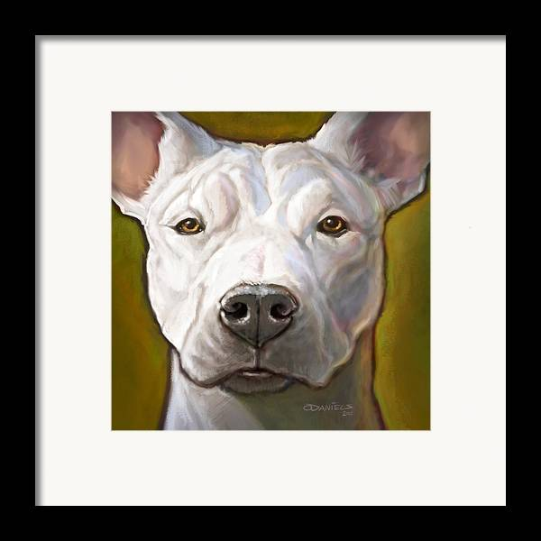 Dog Framed Print featuring the painting Honor by Sean ODaniels