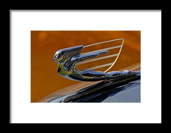 Hood Ornament Framed Print featuring the photograph Hood Ornament by Wes and Dotty Weber