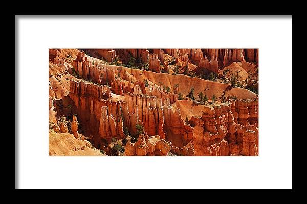 Nature Framed Print featuring the photograph Hoodoos by Bruce Bley
