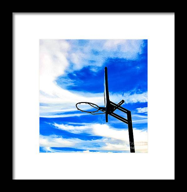 Basketball Framed Print featuring the photograph Hoop Dreamz by Angela J Wright