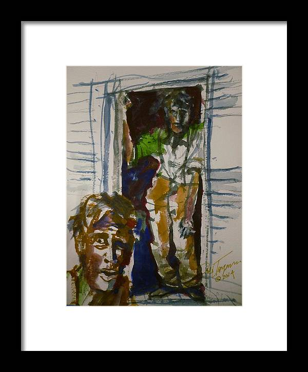 Historical Framed Print featuring the painting Hooverville Dweller by Dale Jorgensen