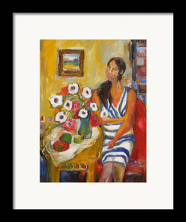 Oil Framed Print featuring the painting Hope by Becky Kim