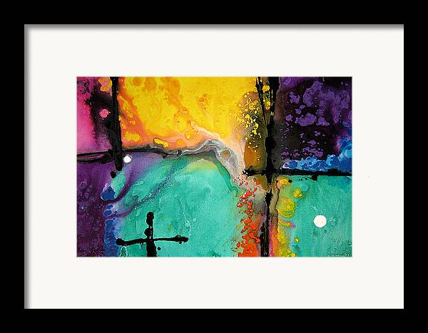 Colorful Framed Print featuring the painting Hope - Colorful Abstract Art By Sharon Cummings by Sharon Cummings