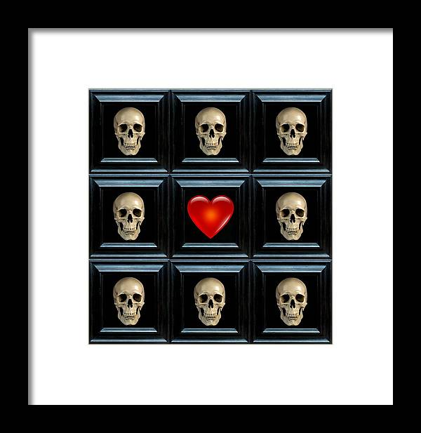 Heart Framed Print featuring the digital art Hope II by Lee Kendall