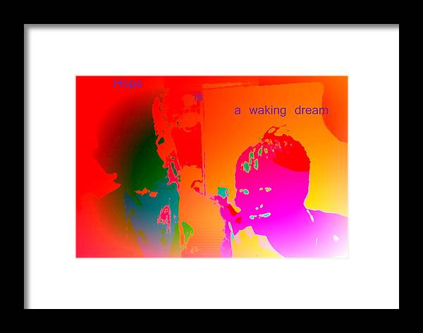 Tractor Framed Print featuring the photograph Hope Is A Waking Dream, Don't Wake Me Up by Hilde Widerberg