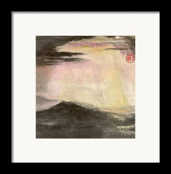 Japanese Framed Print featuring the painting Hope by Terri Harris