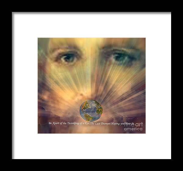 Unusual Framed Print featuring the digital art Hope by The Kepharts
