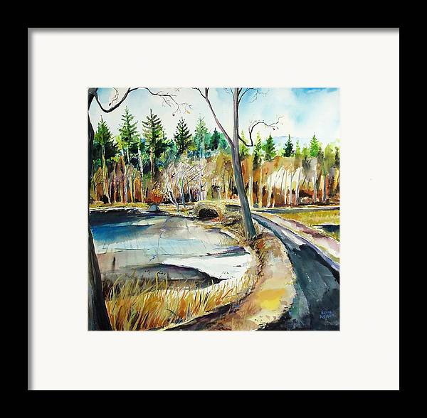 Hopedale Framed Print featuring the painting Hopedale January Thaw by Scott Nelson