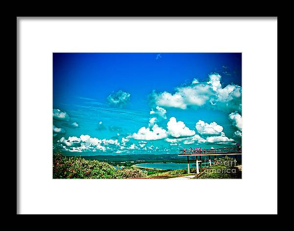 Architecture Framed Print featuring the photograph Horizon by Jeng Suntorn niamwhan