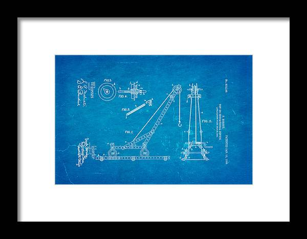 Construction Framed Print featuring the photograph Hornby Meccano Patent Art 1906 Blueprint by Ian Monk