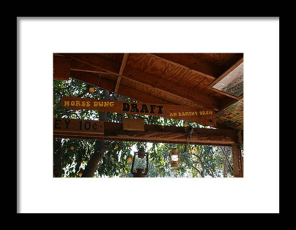 Running P Ranch Bar And Grill Framed Print featuring the photograph Horse Dung Draft Anyone by Marsha Ingrao
