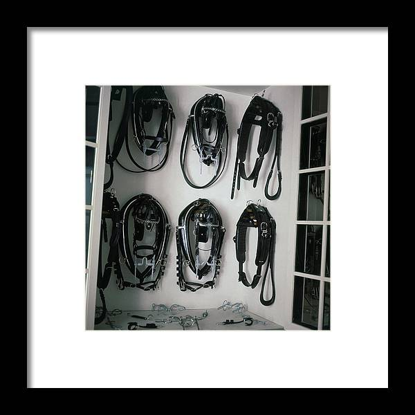Interior Framed Print featuring the photograph Horse Harnesses by Horst P. Horst