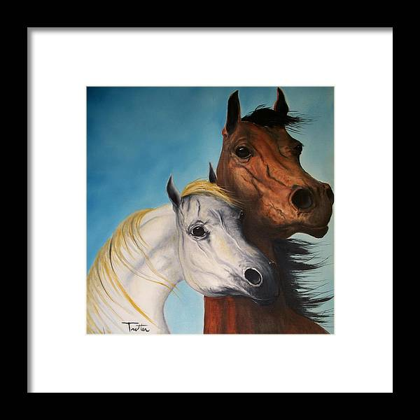 Horse Framed Print featuring the painting Horse Lovers by Patrick Trotter