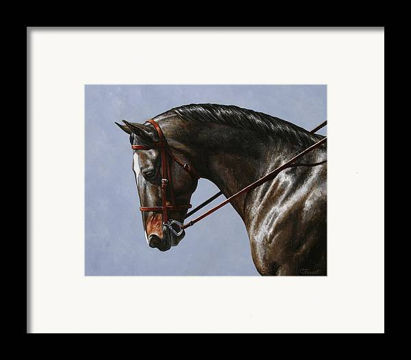 Horse Framed Print featuring the painting Horse Painting - Discipline by Crista Forest