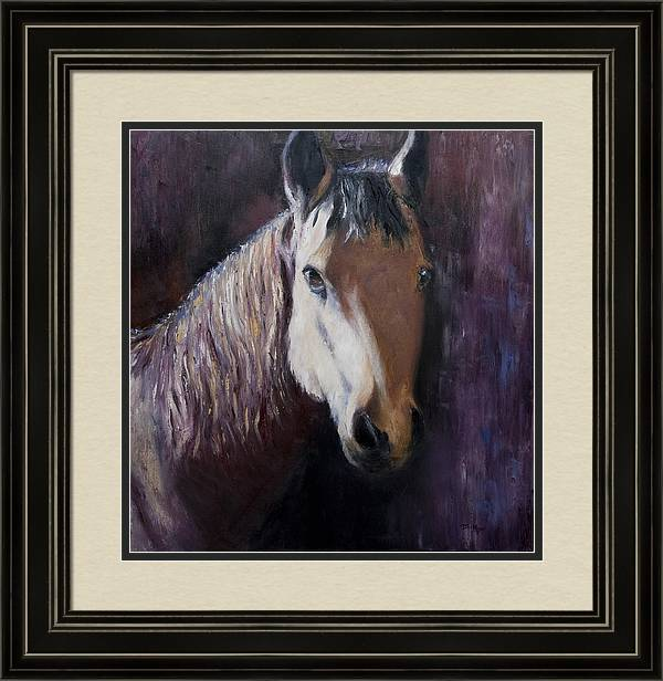 Horse Painting Framed Print featuring the painting Horse Painting by Terri Meyer
