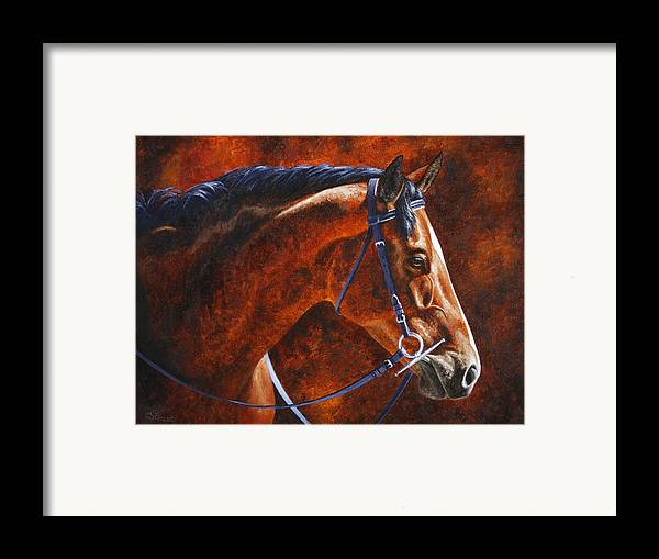 Horse Framed Print featuring the painting Horse Painting - Ziggy by Crista Forest