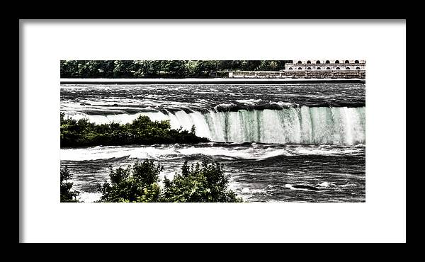Niagara Falls Framed Print featuring the photograph Horseshoe Falls by Michael Schwartzberg