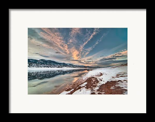Colorado Framed Print featuring the photograph Horsetooth Sunset Hdr by Preston Broadfoot