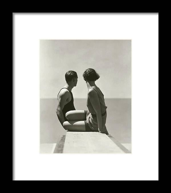 Outdoors Framed Print featuring the photograph The Divers by George Hoyningen-Huene