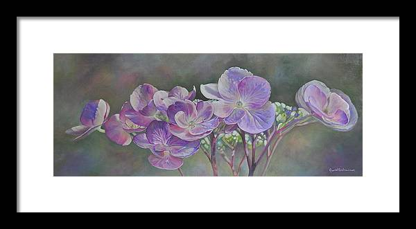 Acrylic Framed Print featuring the painting Hortensia de St Jean by Muriel Dolemieux