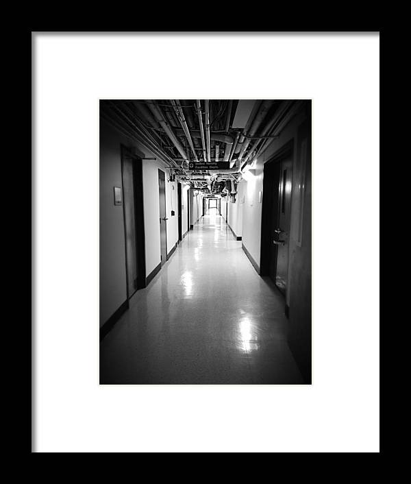 Photography Framed Print featuring the photograph Hospital by Caleb Pooler
