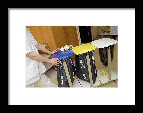 Equipment Framed Print featuring the photograph Hospital Waste Disposal by Aj Photo/science Photo Library