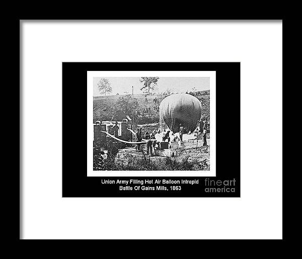 Civil War Pictures Framed Print featuring the photograph Hot Air Balloon by David Call