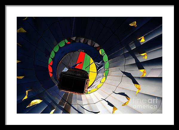 Hot Air Balloon Framed Print featuring the photograph Hot Air UP by Leon Hollins III