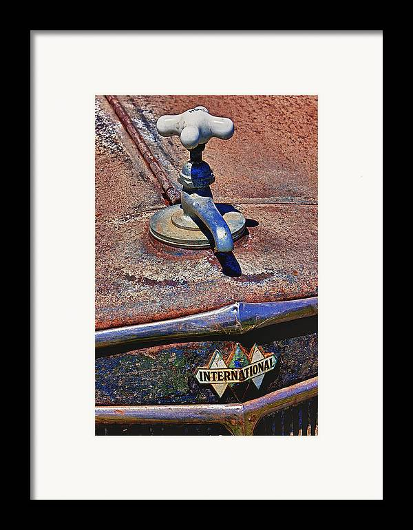 Hot Faucet Framed Print featuring the photograph Hot Faucet Hood Ornament by Garry Gay