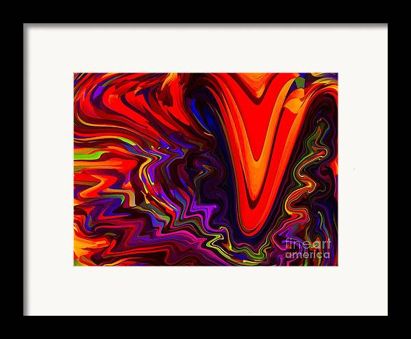 Abstract Framed Print featuring the pastel Hot Kiss by Imani Morales