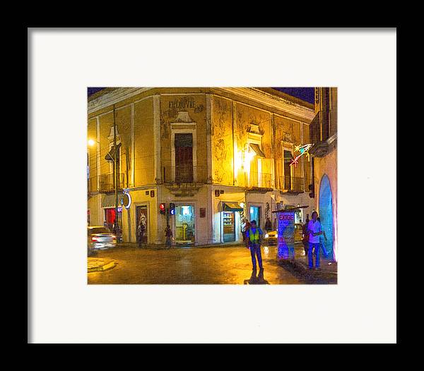 Merida Framed Print featuring the photograph Hot Nights In The Yucatan by Mark E Tisdale