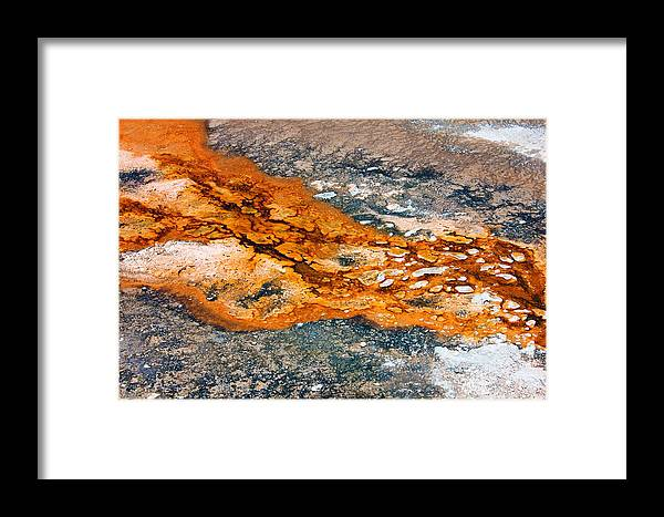 Minerals Framed Print featuring the photograph Hot Springs Mineral Flow by Josh Bryant