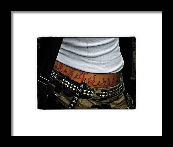 Woman Framed Print featuring the photograph Hot Stuff by Mike Martin