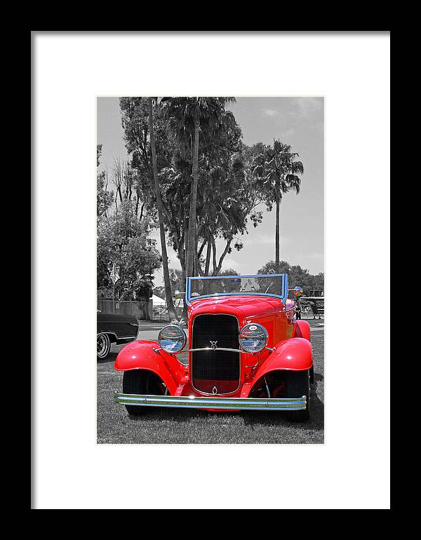 Classic Car Framed Print featuring the photograph Hot V8 by Shoal Hollingsworth