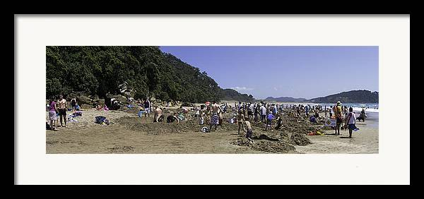 New Zealand Framed Print featuring the photograph Hot Water Beach by Tim Mulholland