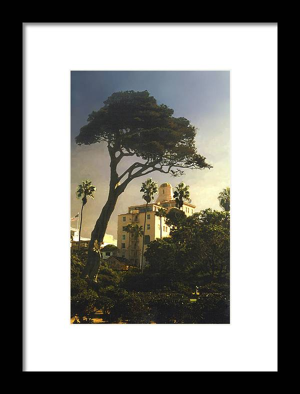 Landscape Framed Print featuring the photograph Hotel California- La Jolla by Steve Karol