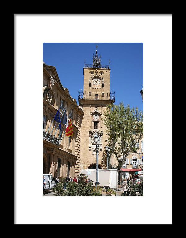 City Hall Framed Print featuring the photograph Hotel De Ville - Aix En Provence by Christiane Schulze Art And Photography