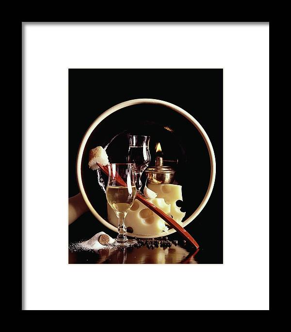 Food Framed Print featuring the photograph House And Garden's Swiss Cook Book Cover Featuring by Fotiades