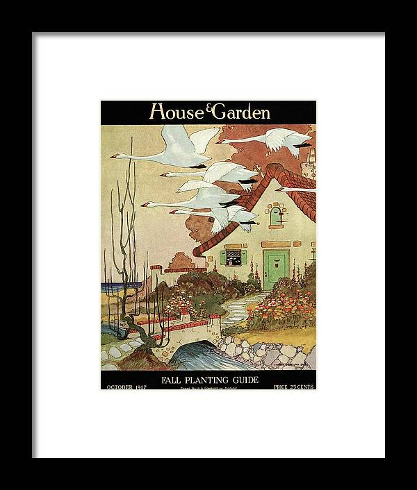 House And Garden Framed Print featuring the photograph House And Garden Fall Planting Guide by Charles Livingston Bull